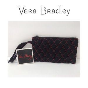 RARE 🆕 NWT Vera Bradley Red Stitch Wristlet